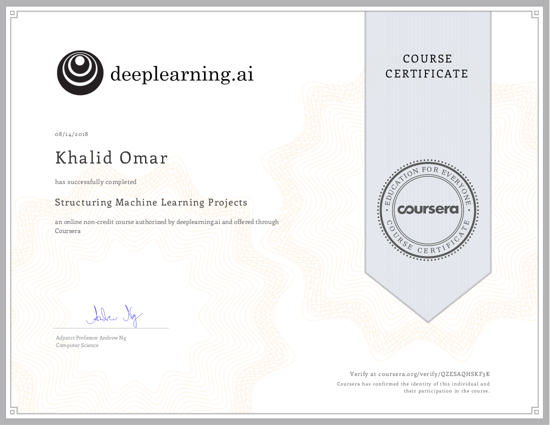 deeplearning ai: Structuring Machine Learning Projects